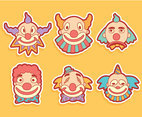 Clown Face Vectors