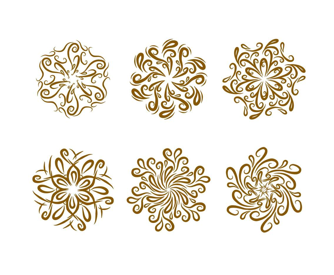 Curlicues Ornament Vector