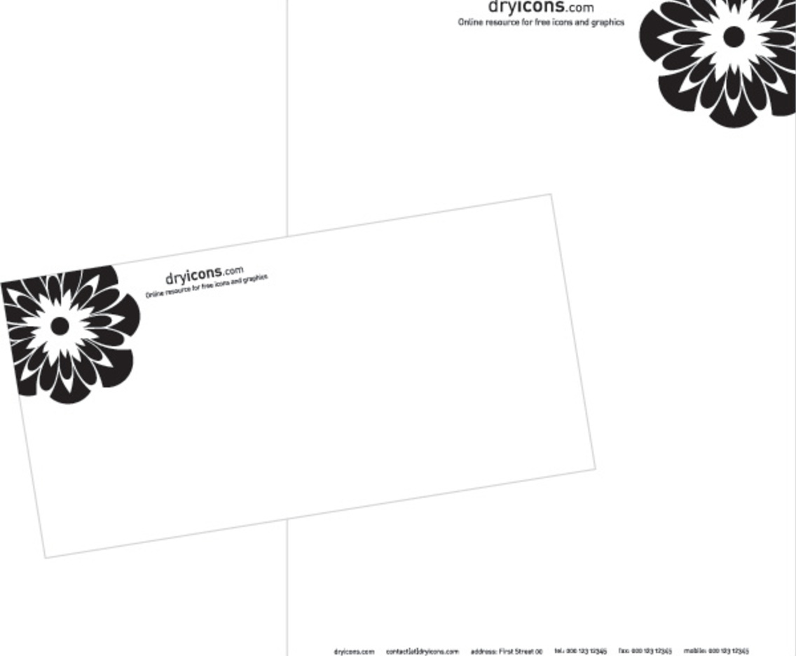 Stylish letterhead and envelope template