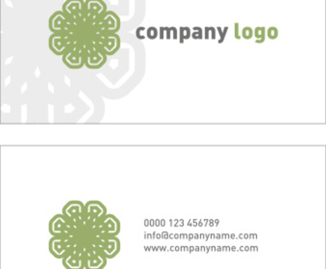Company logo and business card