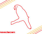 Parrot Outlines Vector