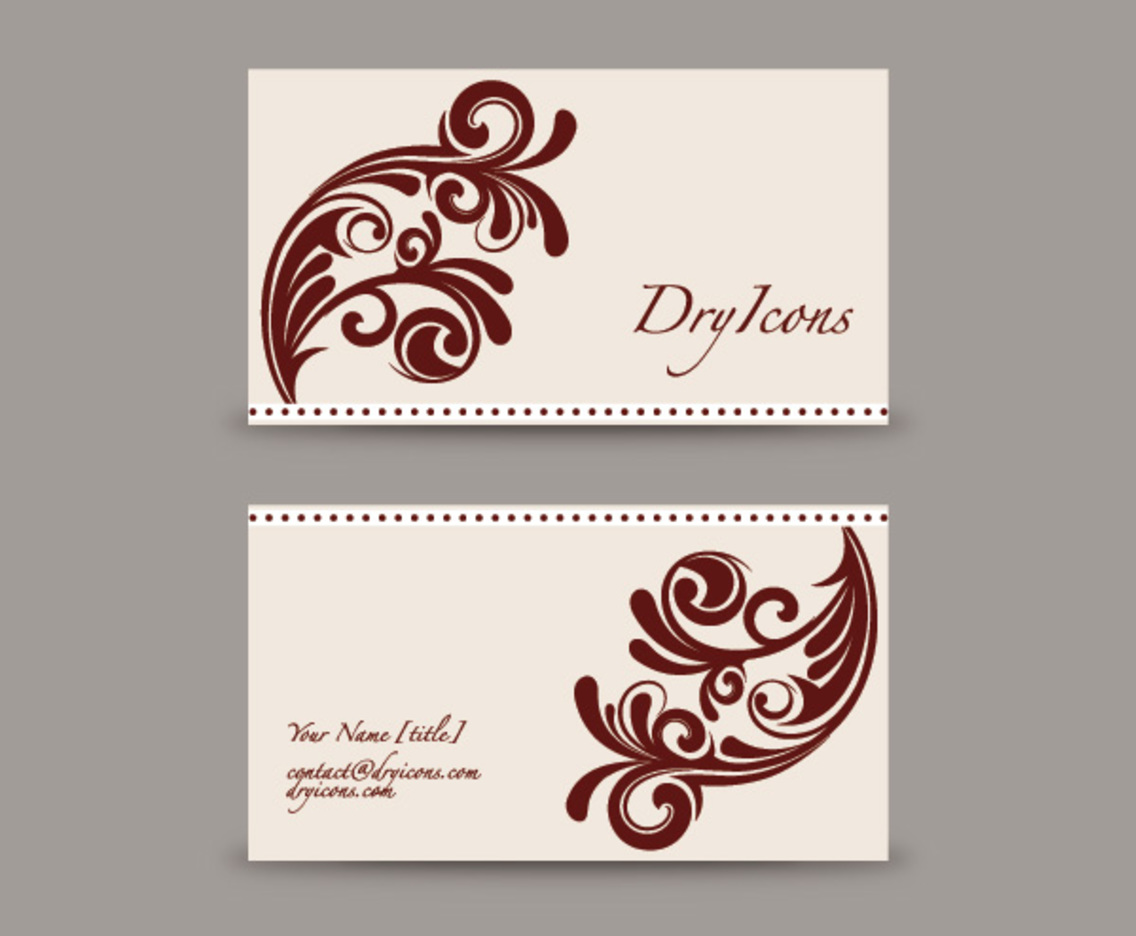 Swirly Design Business Card