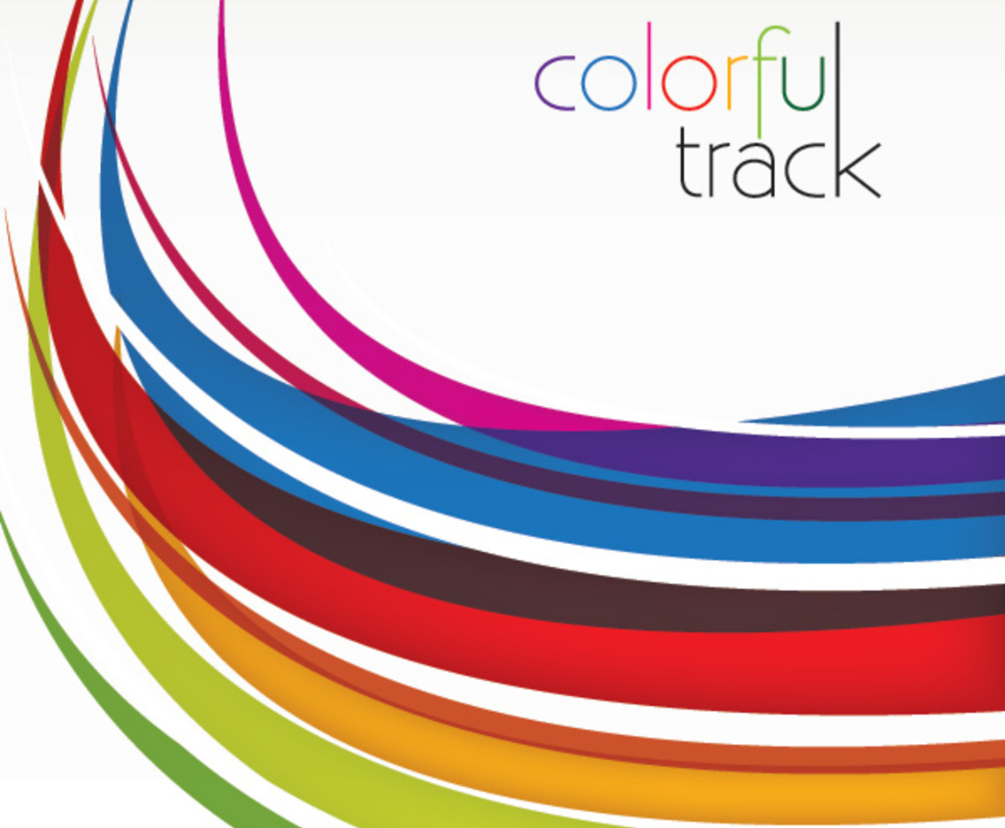 colorful track vector art