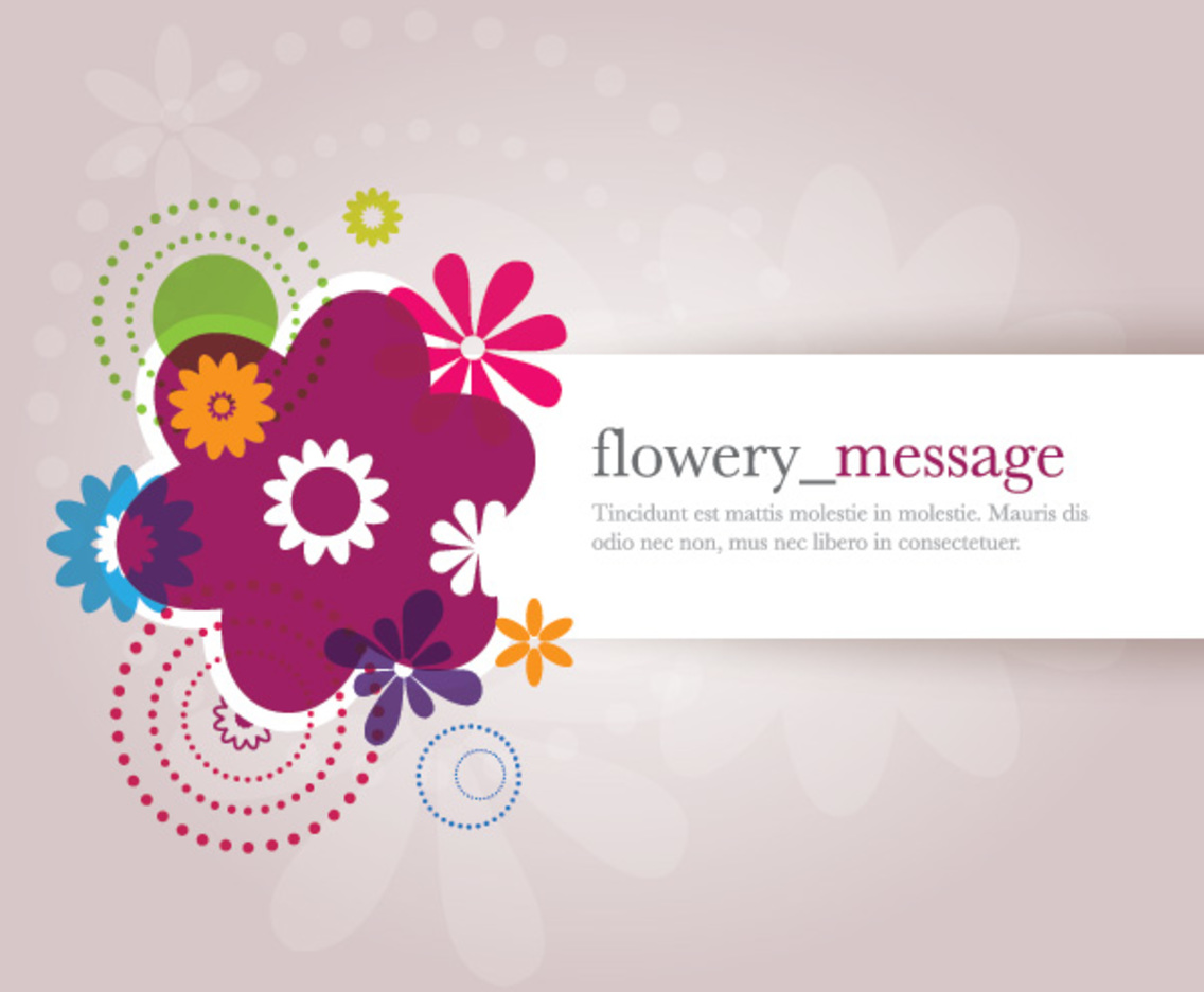 Flowery Message