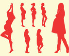 Silhouettes Of Pregnant Women