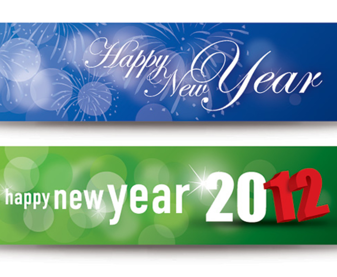 happy new year banners vector art graphics freevectorcom