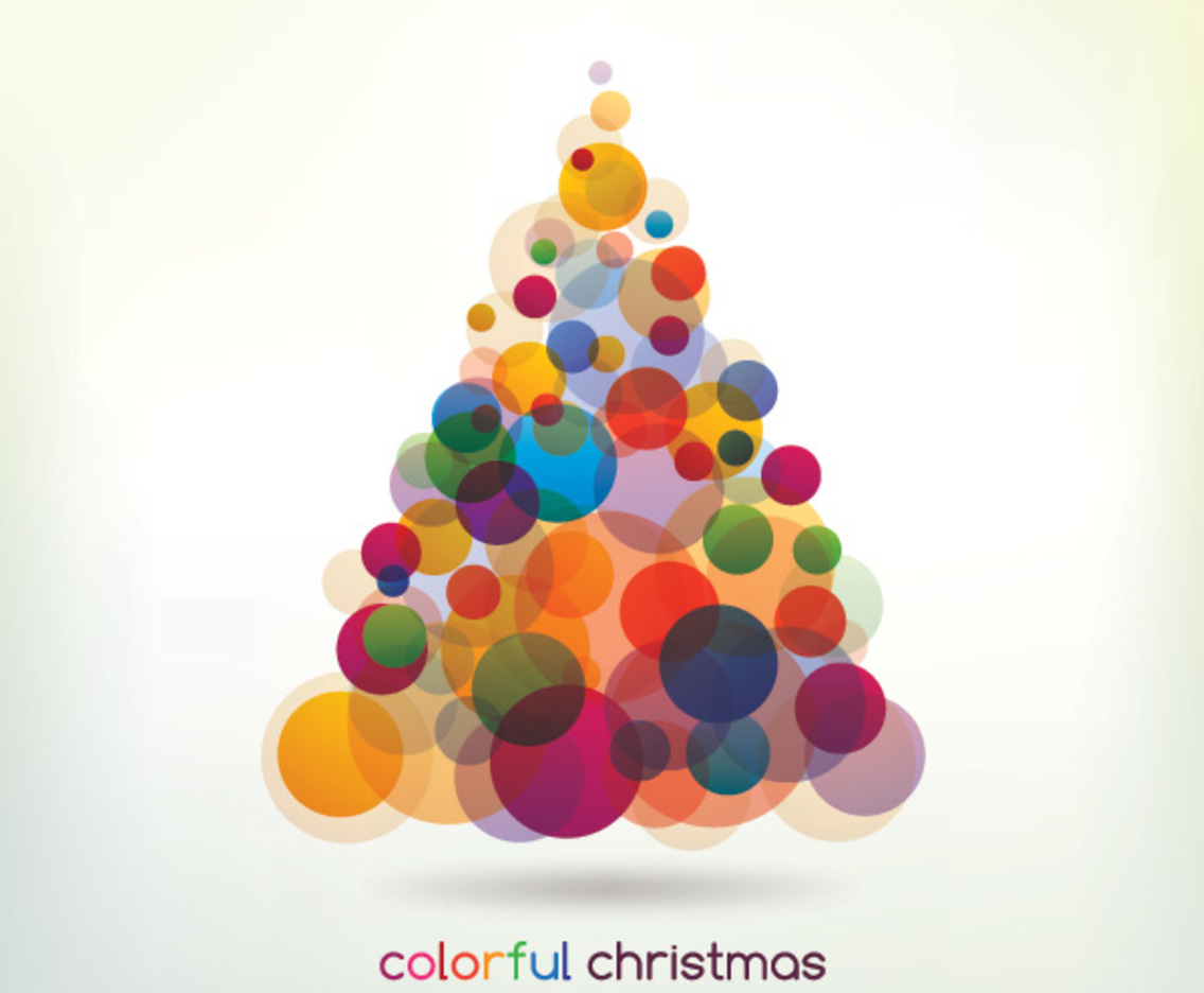 Colorful Christmas Tree Vector.Colorful Christmas Tree Vector Art Graphics Freevector Com