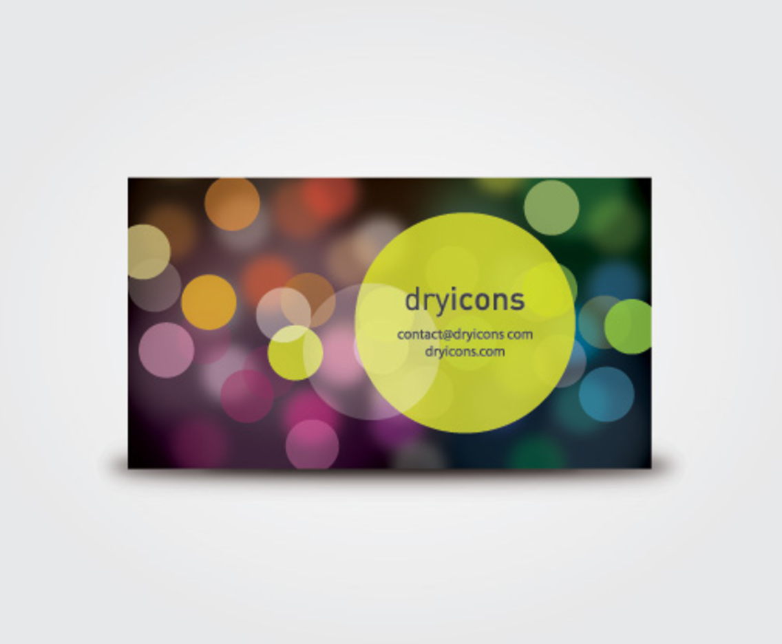 Defocused Lights Business Card