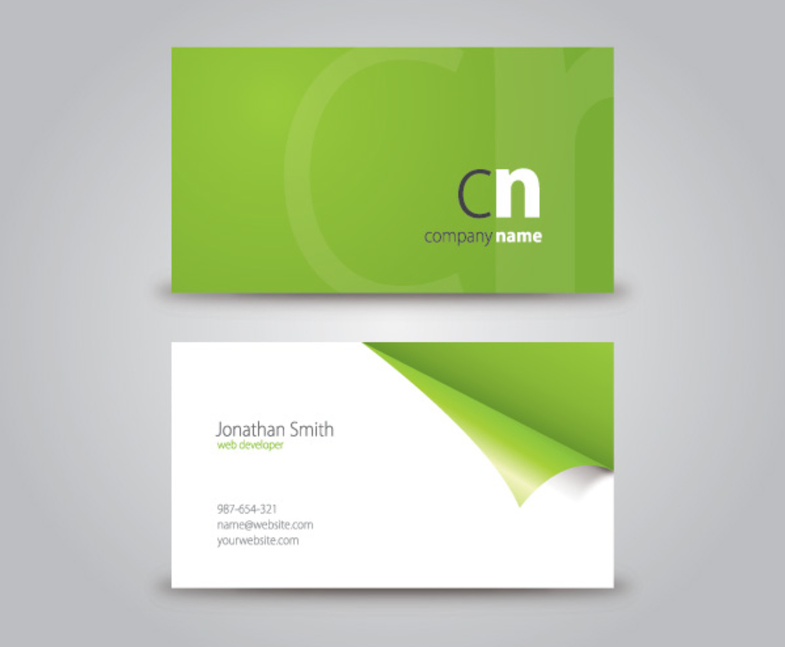 Curled Corner Business Card