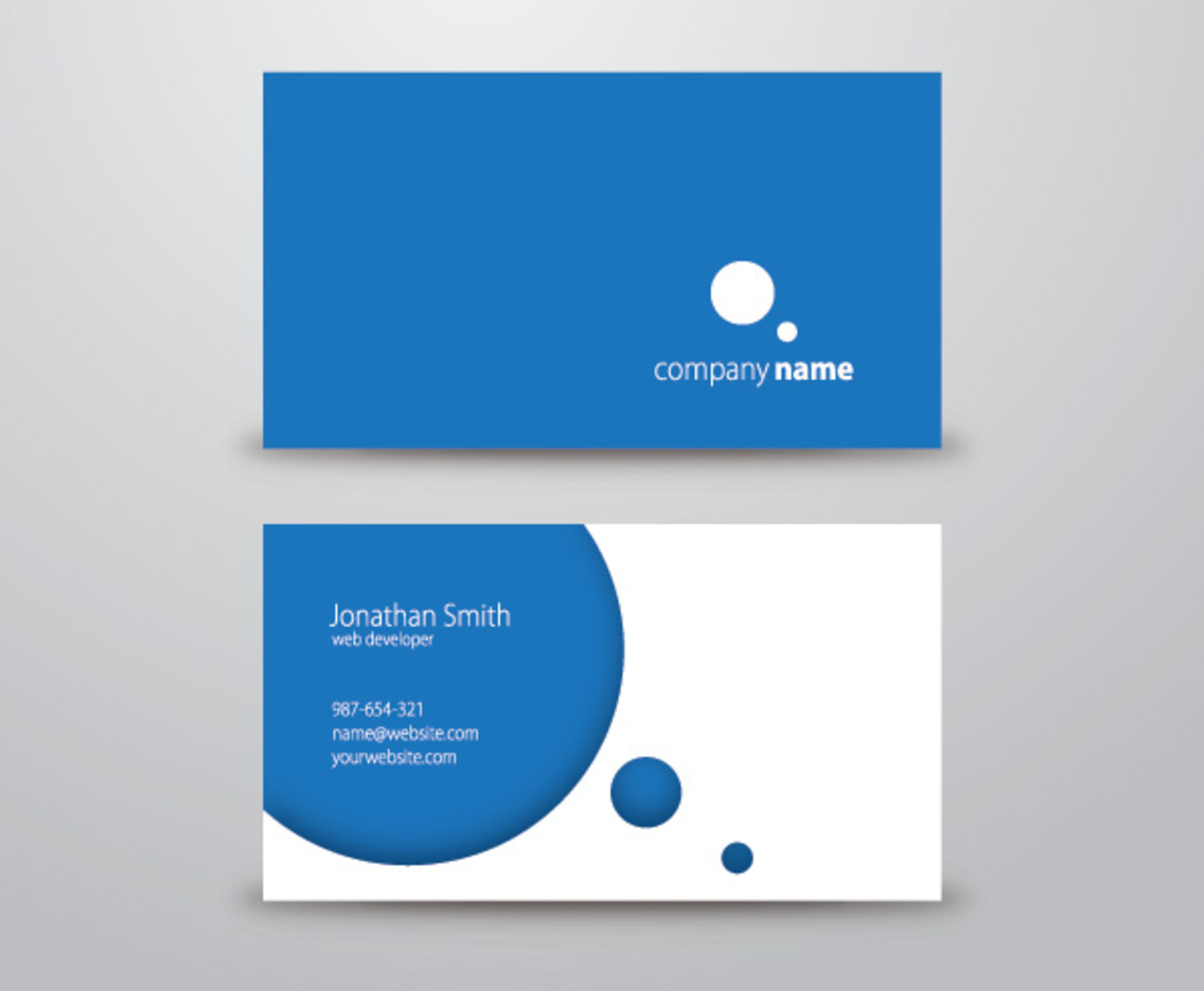 Circle business card vector art graphics freevector colourmoves