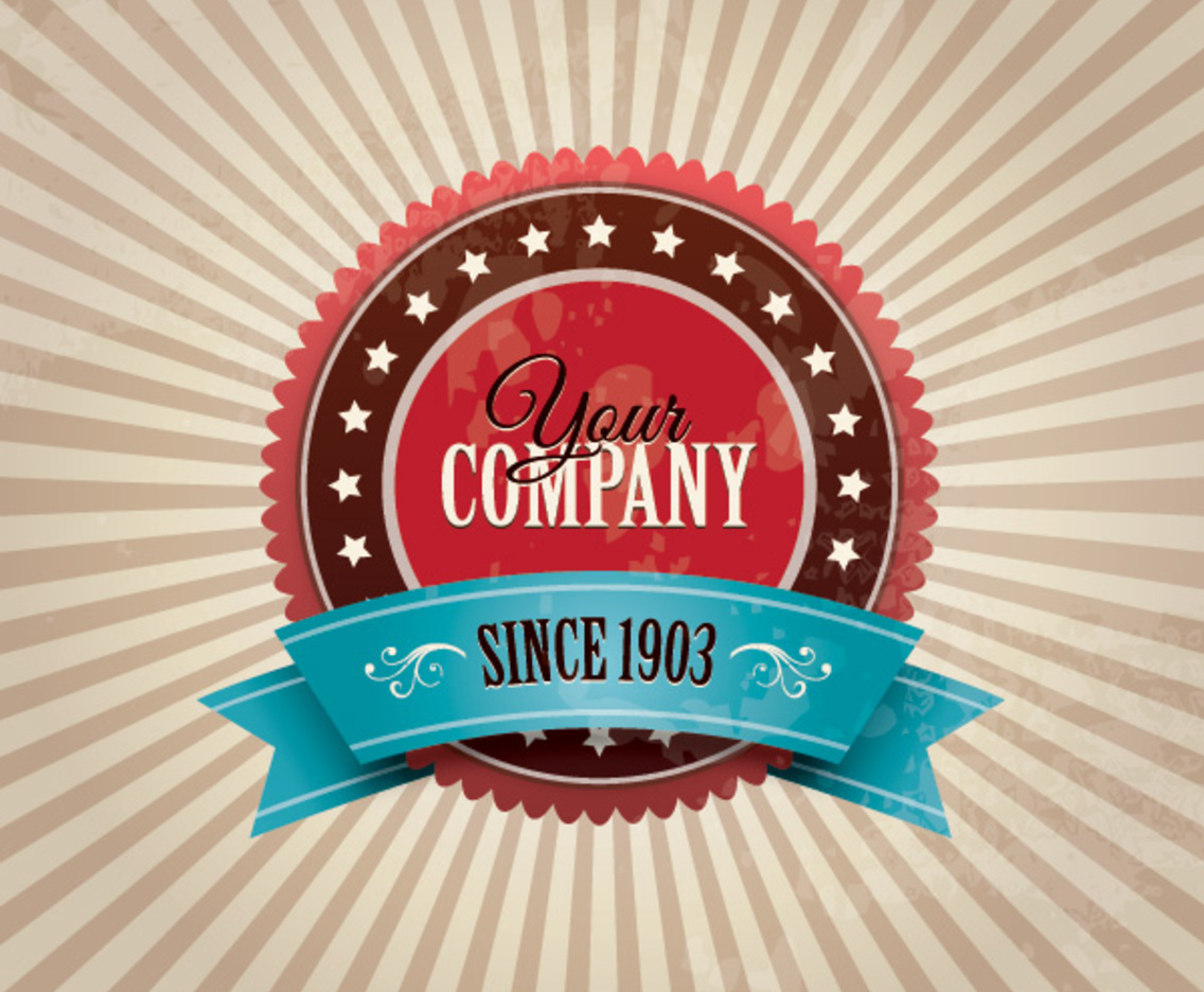 Vintage Company Badge