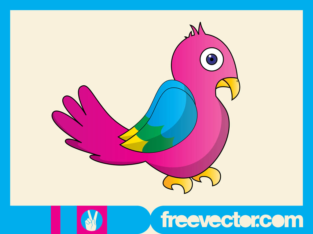 Colorful Bird Character