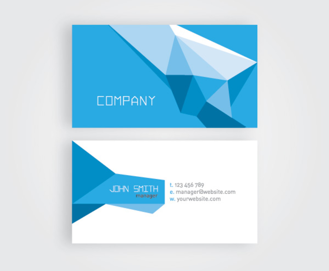 Geometric business card vector art graphics freevector geometric business card reheart Gallery