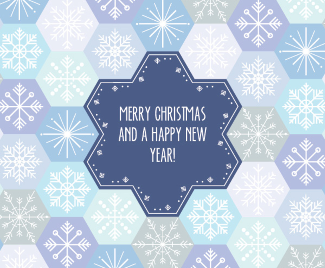 Snowflake Pattern Card