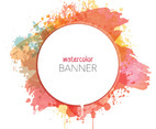 Watercolor Banner