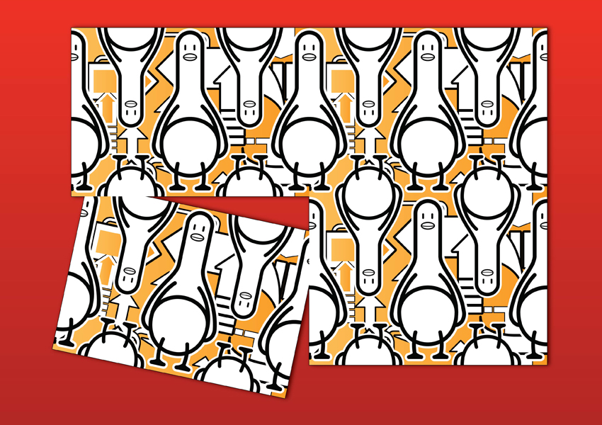 Duck Cartoon Pattern