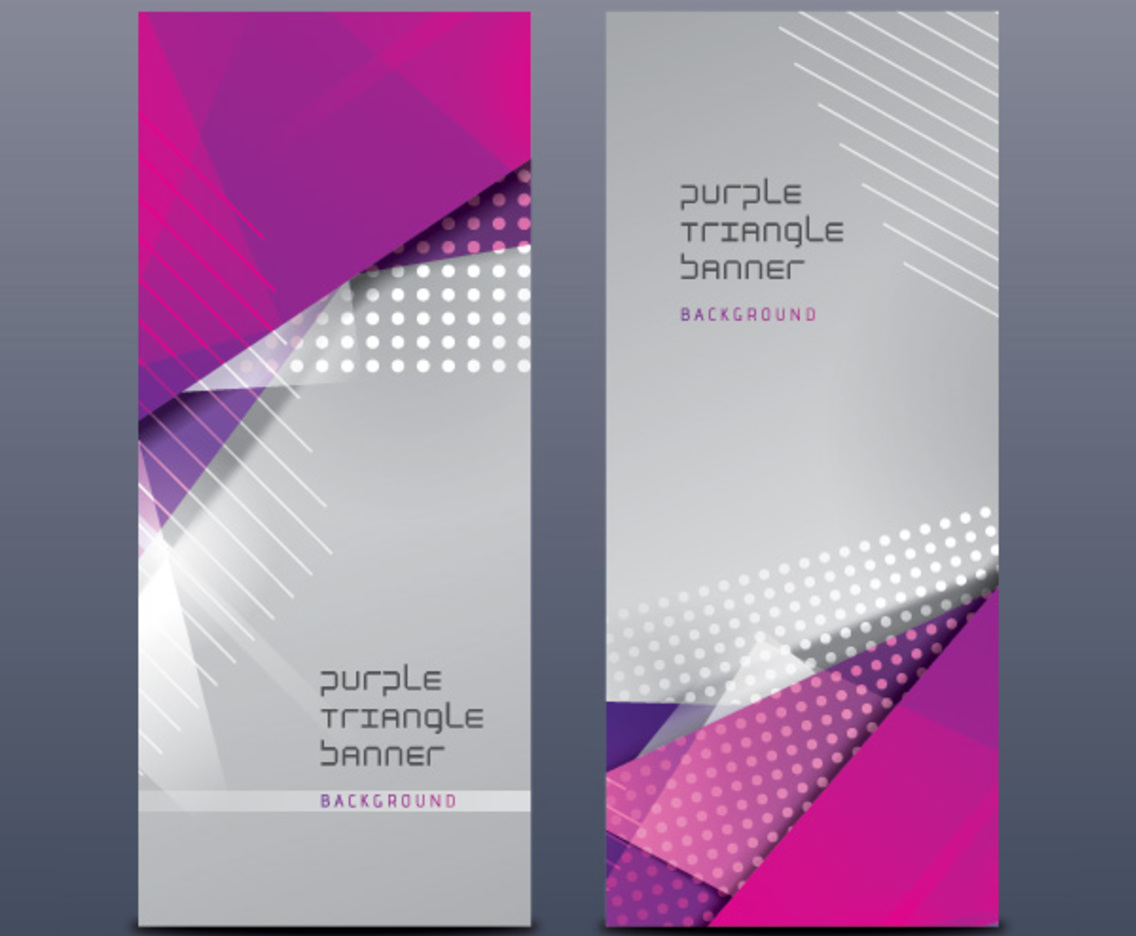 Purple Triangle Banners