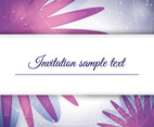 Purple Invitation