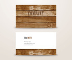 Wooden Background Business Card