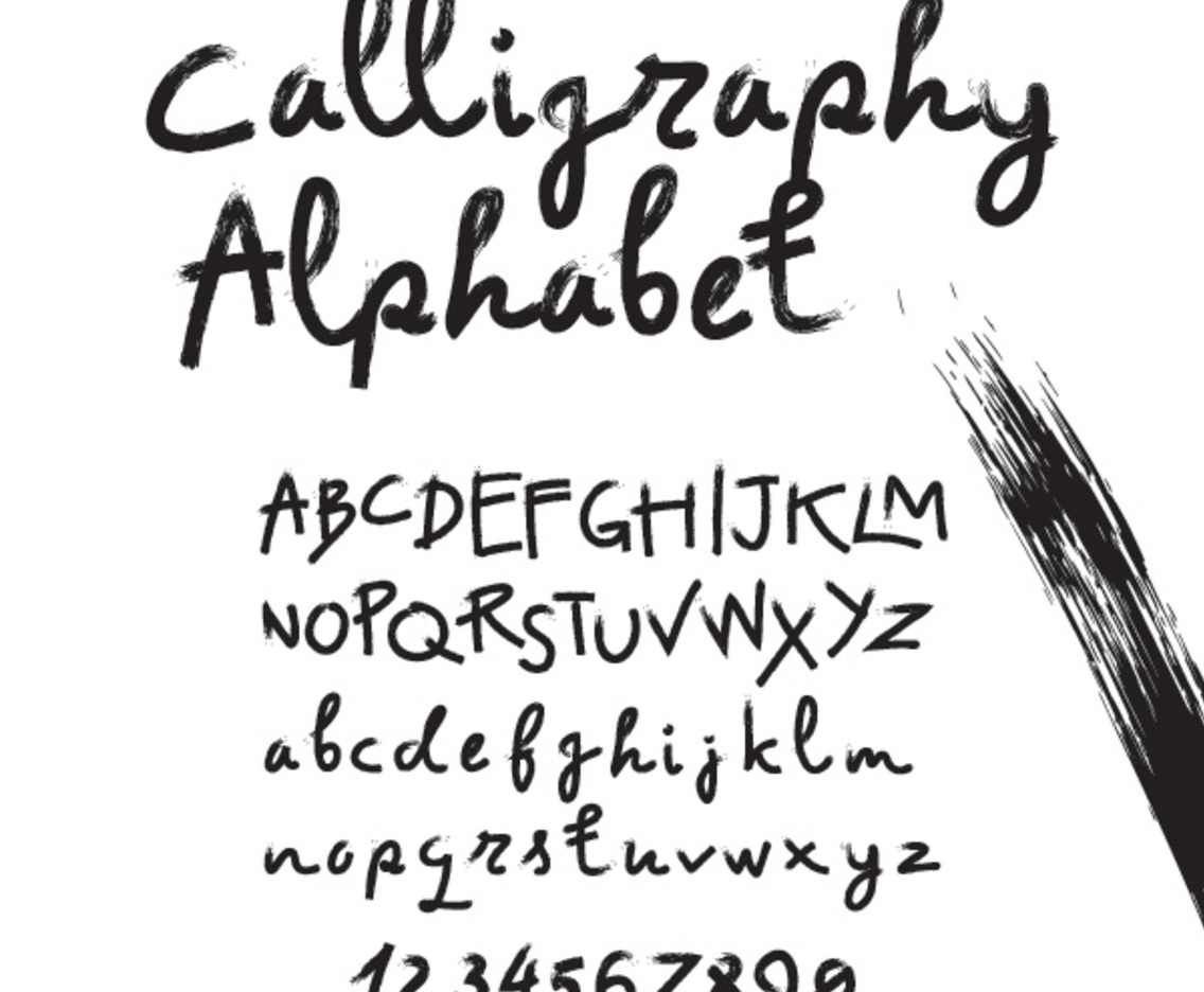 learn how to write calligraphy alphabet