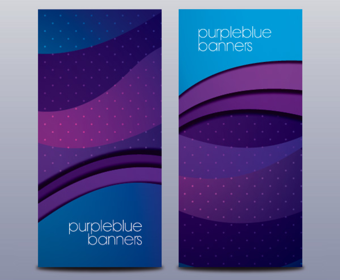 Purple Blue Banners