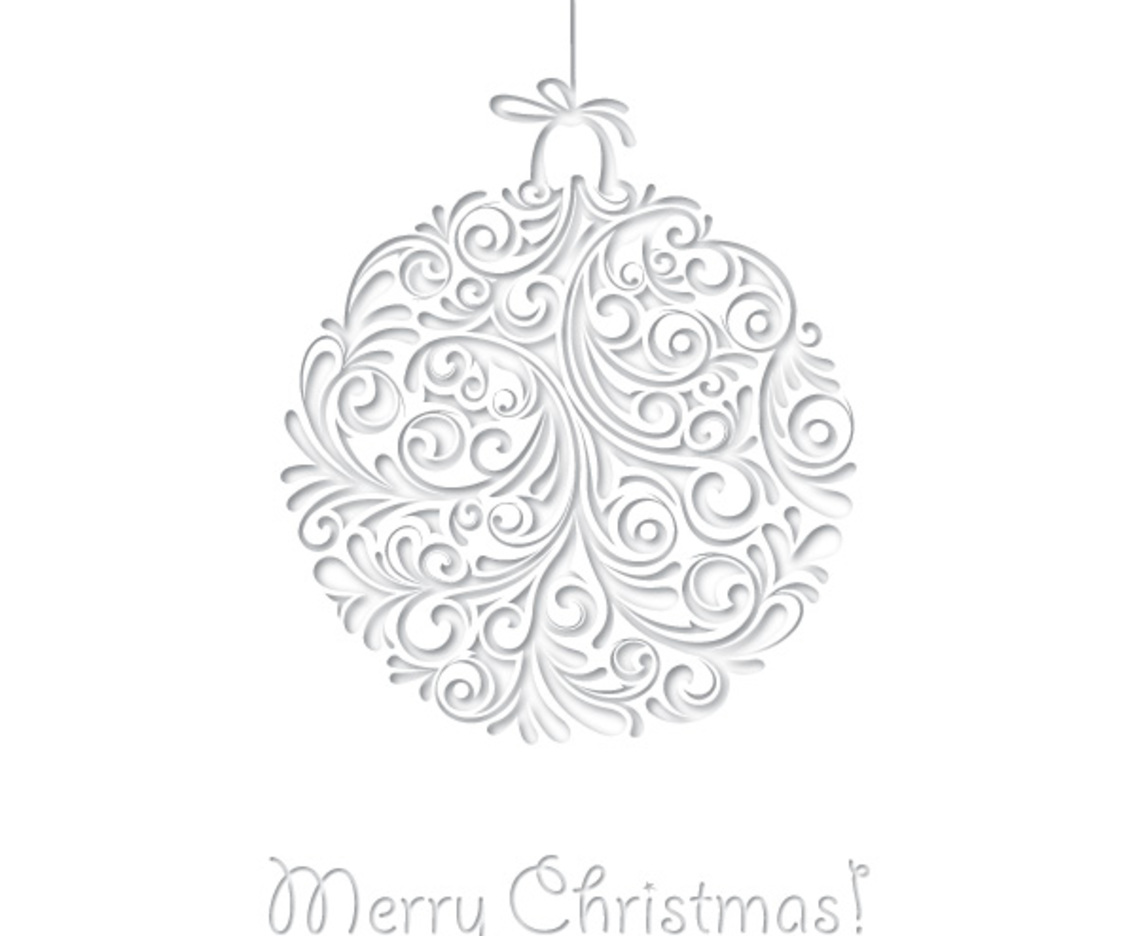 White Christmas Card