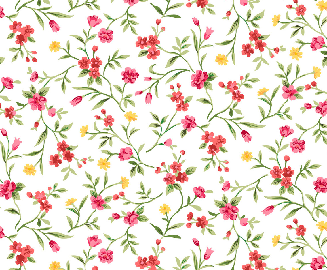 Watercolor Floral Seamless Background
