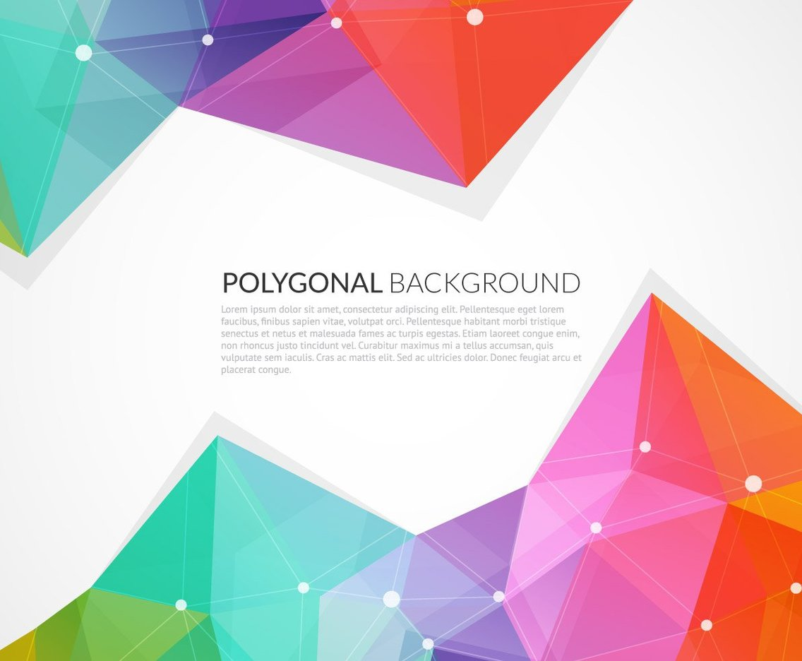Abstract Colorful Triangle Vector Background