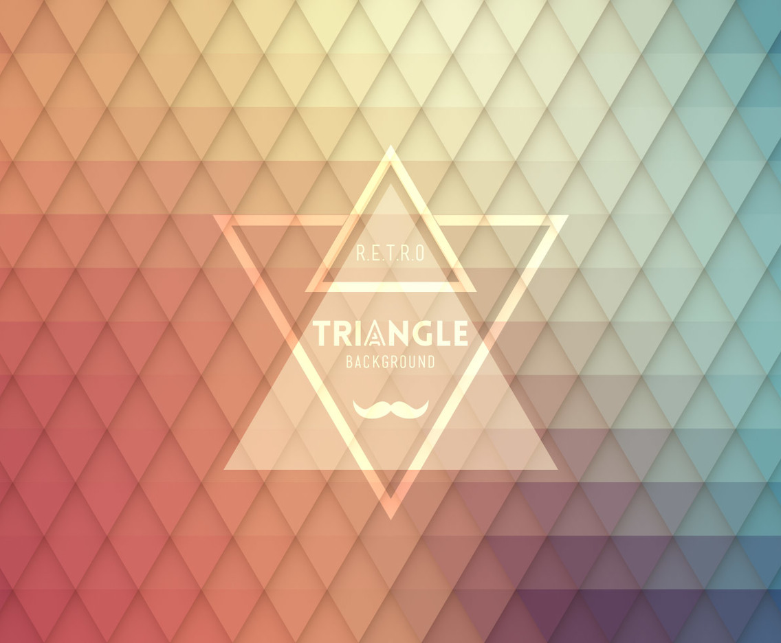 Retro Hipster Triangle Design