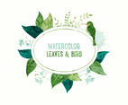 Watercolor Leaves Banner