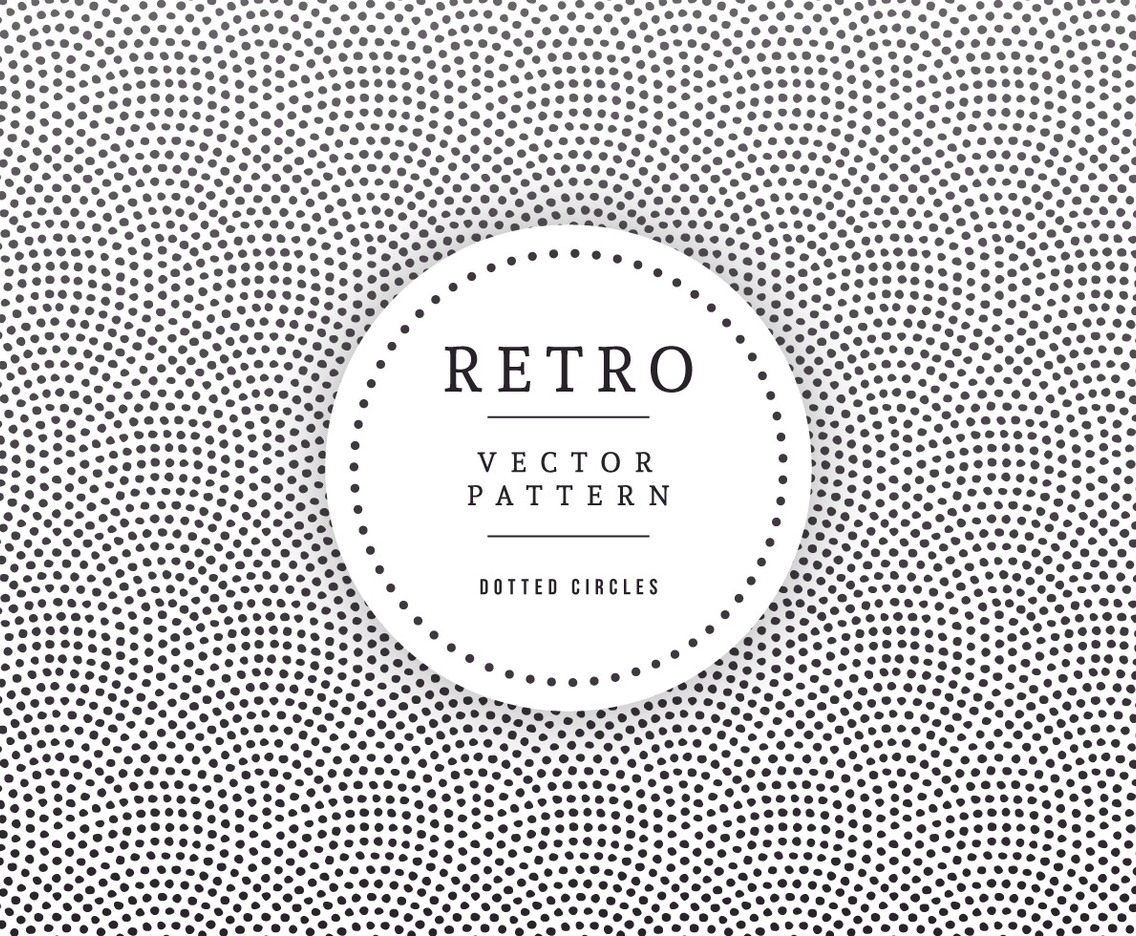 Geometric Dotted Circles Retro Background