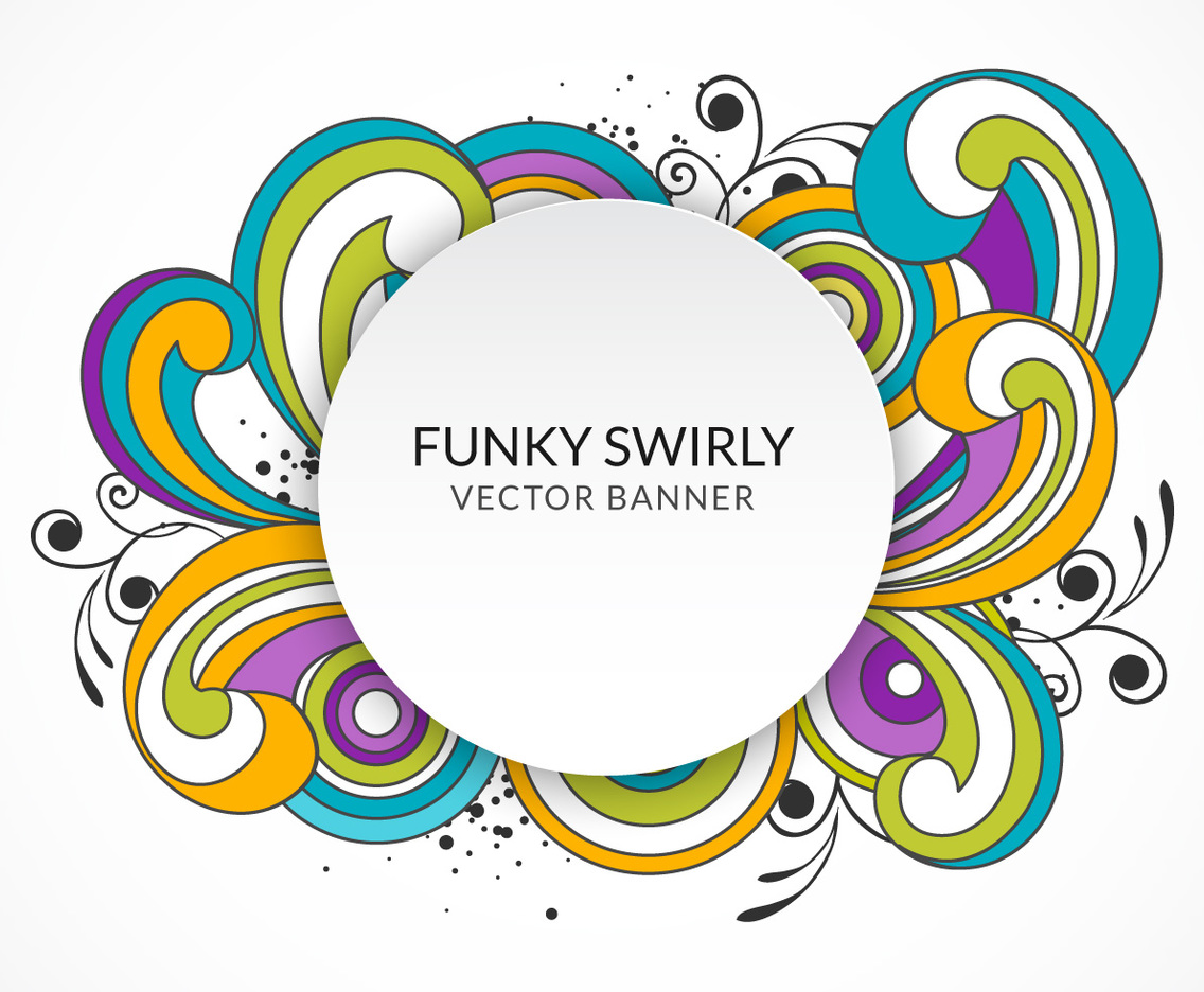 Funky Swirly Banner