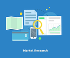 Market Research Flat Vectors