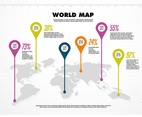 Free World Map Vector Background