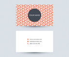 Orange Geometric Cube Business Card