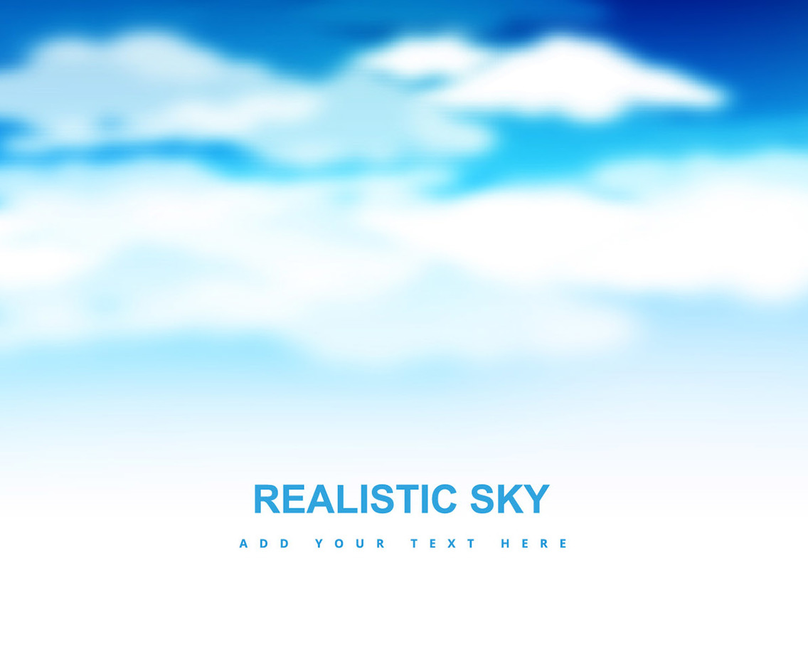 Blue Sky With Clouds Vector Art & Graphics | freevector com