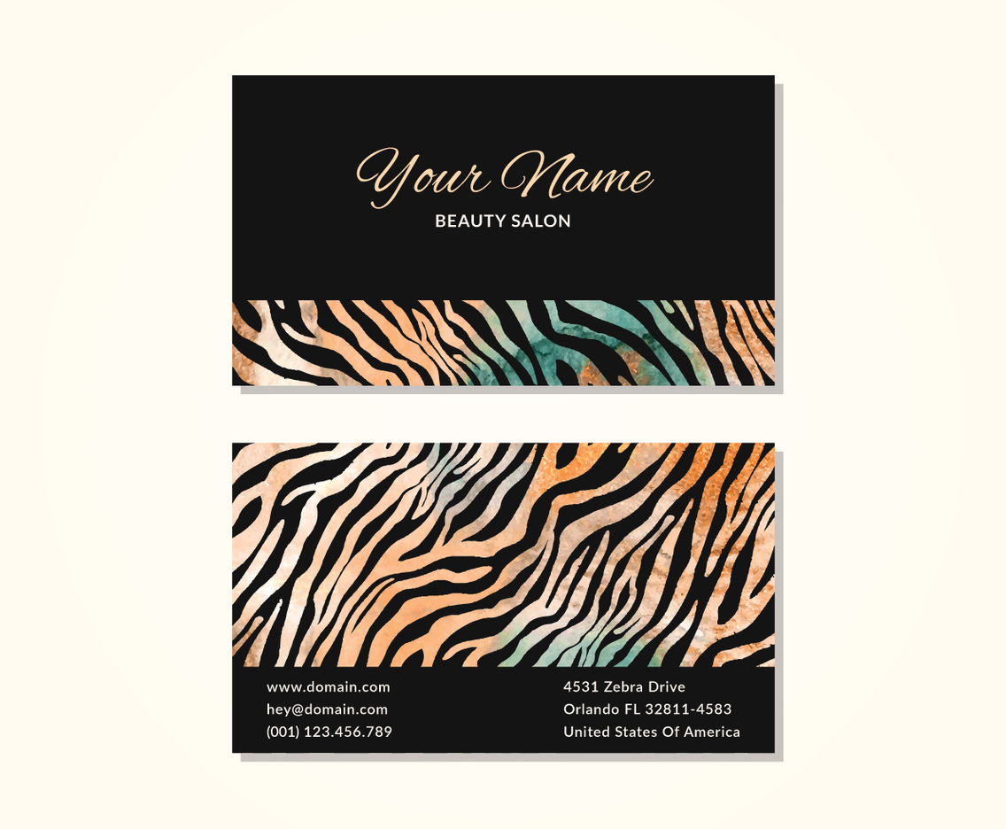 Zebra Print Business Card