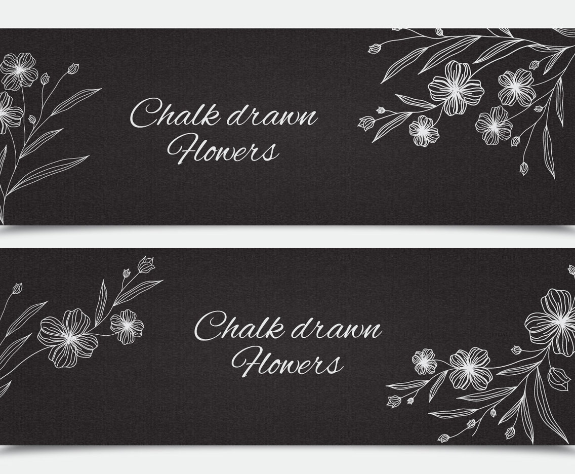 Stylish Floral Banners