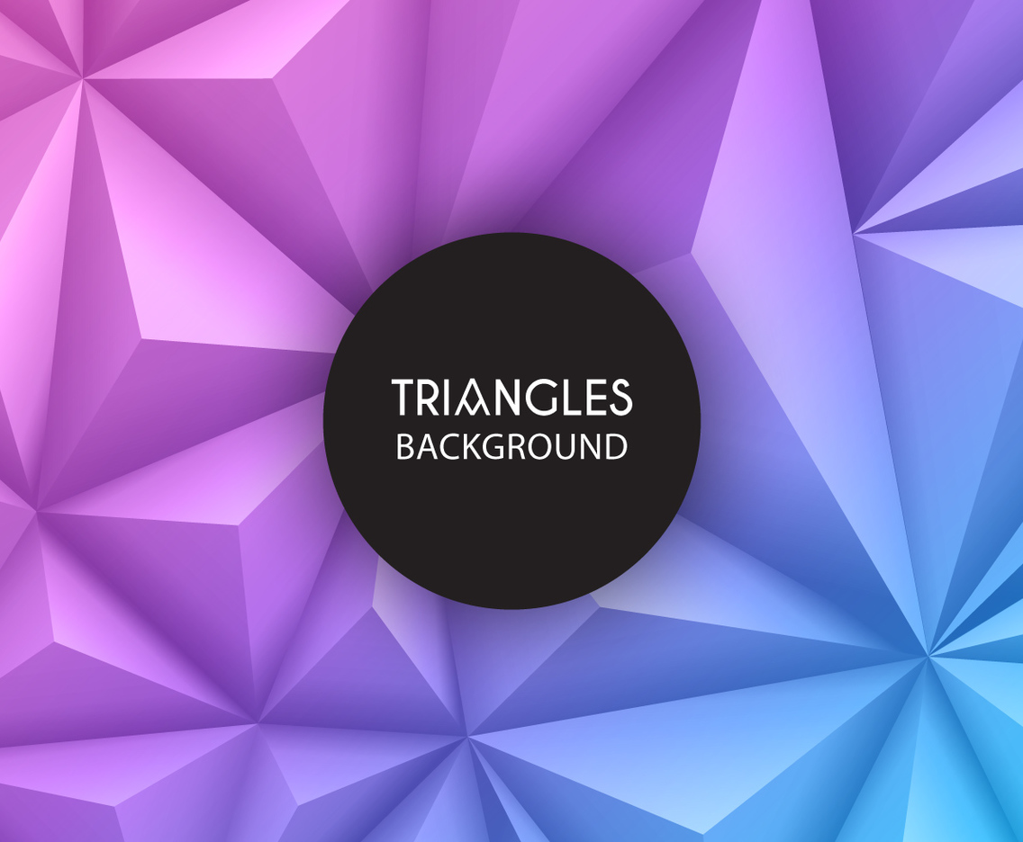 3 d geometric triangles background vector art graphics