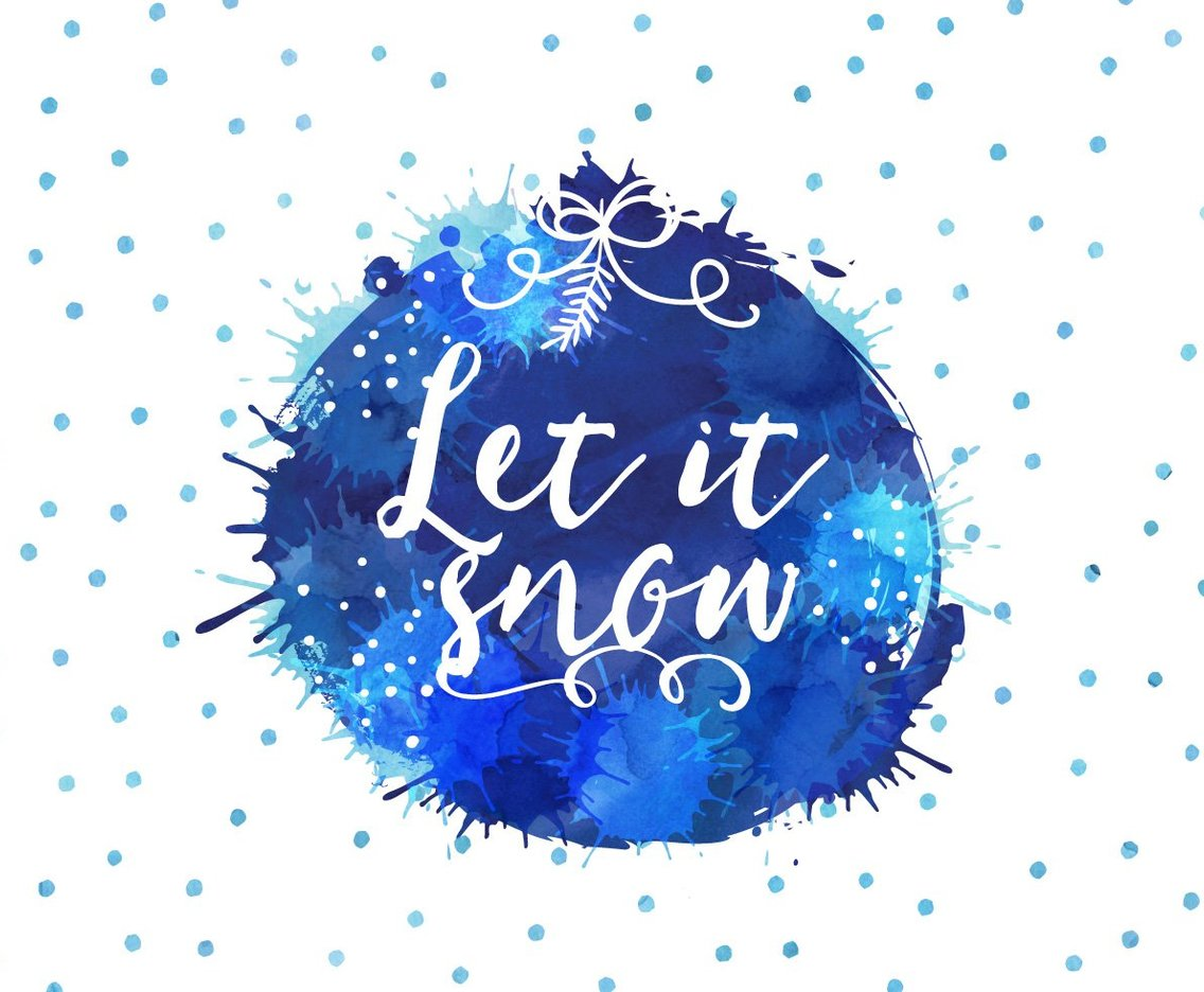 Watercolor Let It Snow