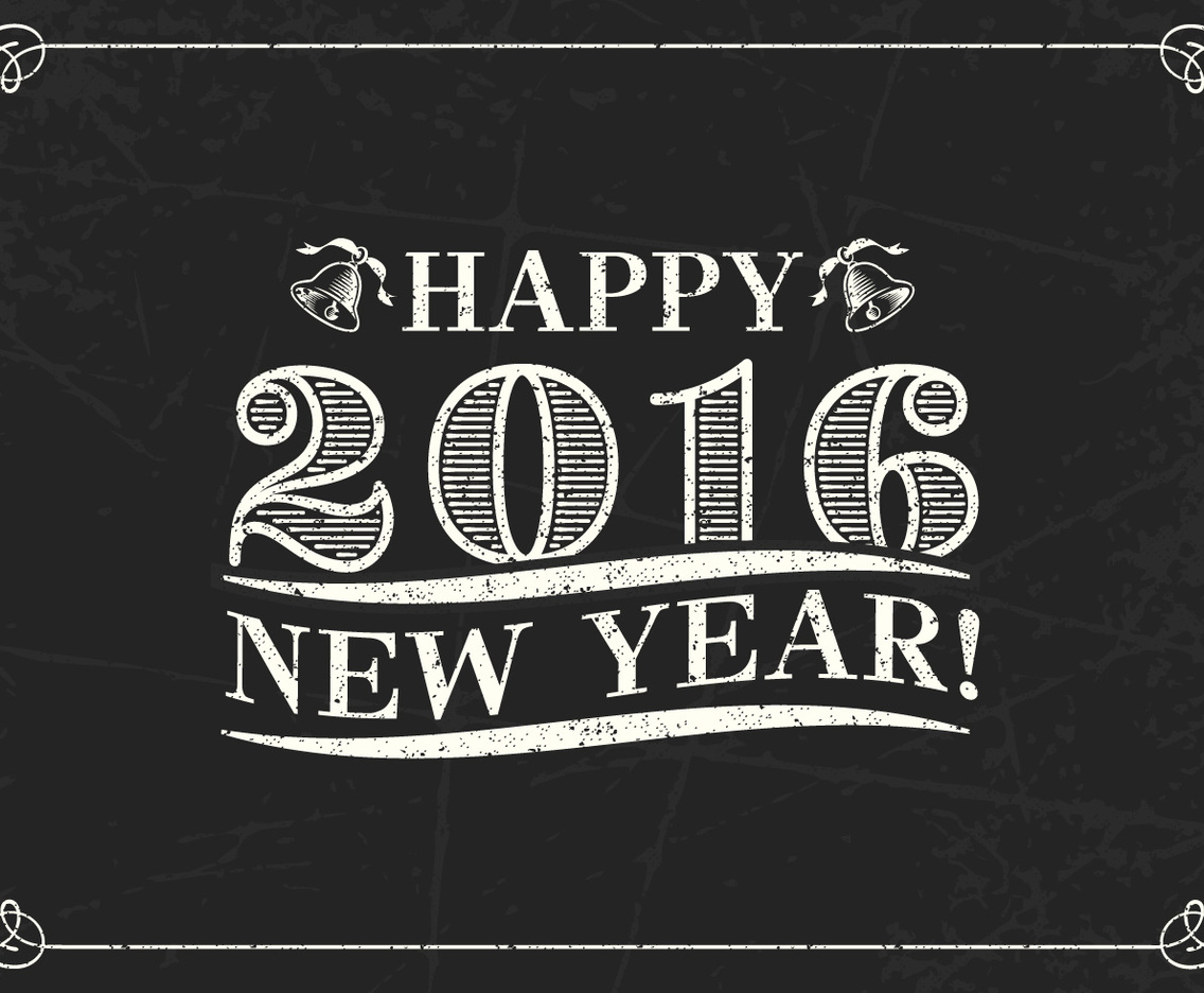 Retro Happy 2016 Lettering