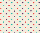 Geometric Hearts Pattern