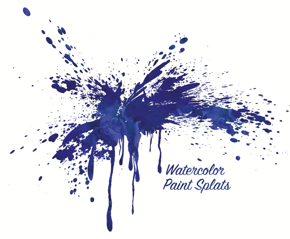 Watercolor Paint Spats