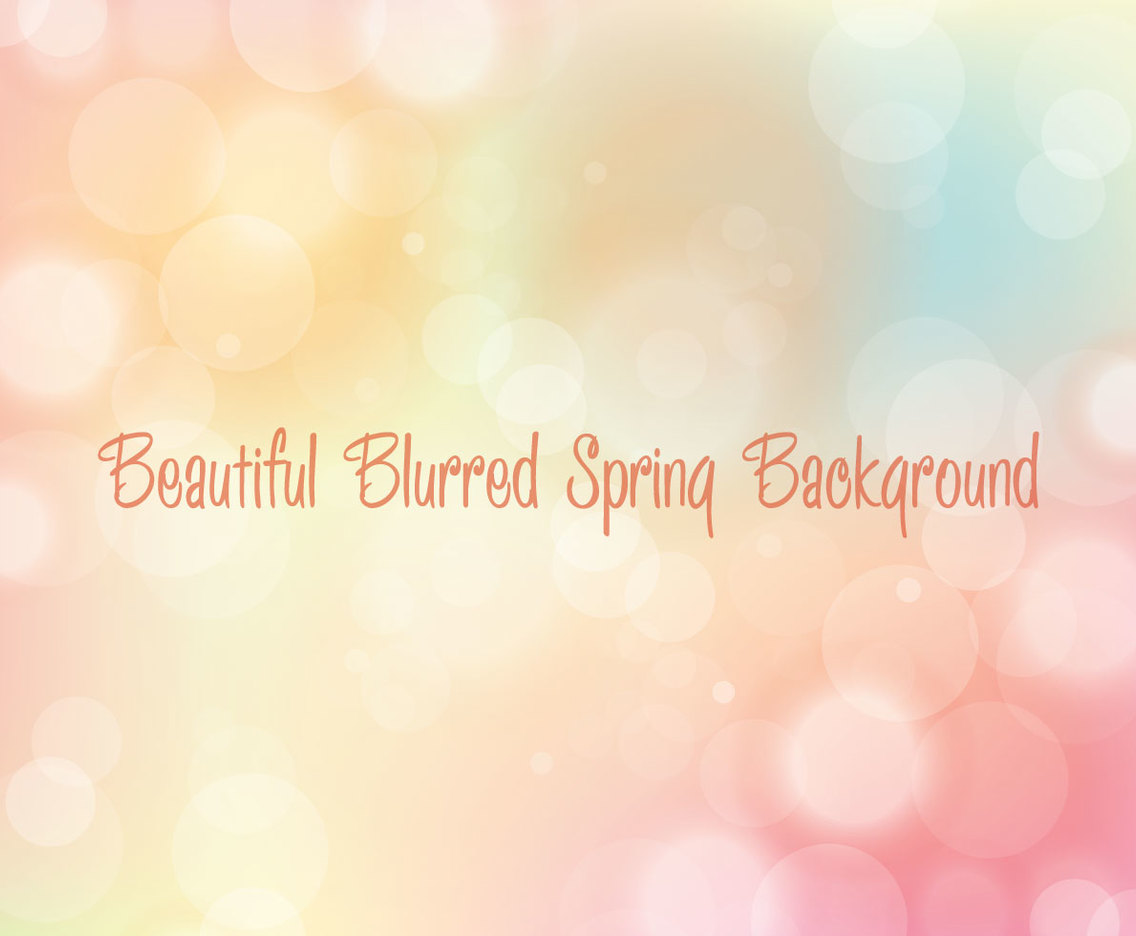 Beautiful Multicolored Blurred Bokeh Background