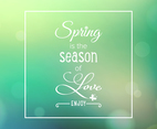 Spring Is The Season Of Love