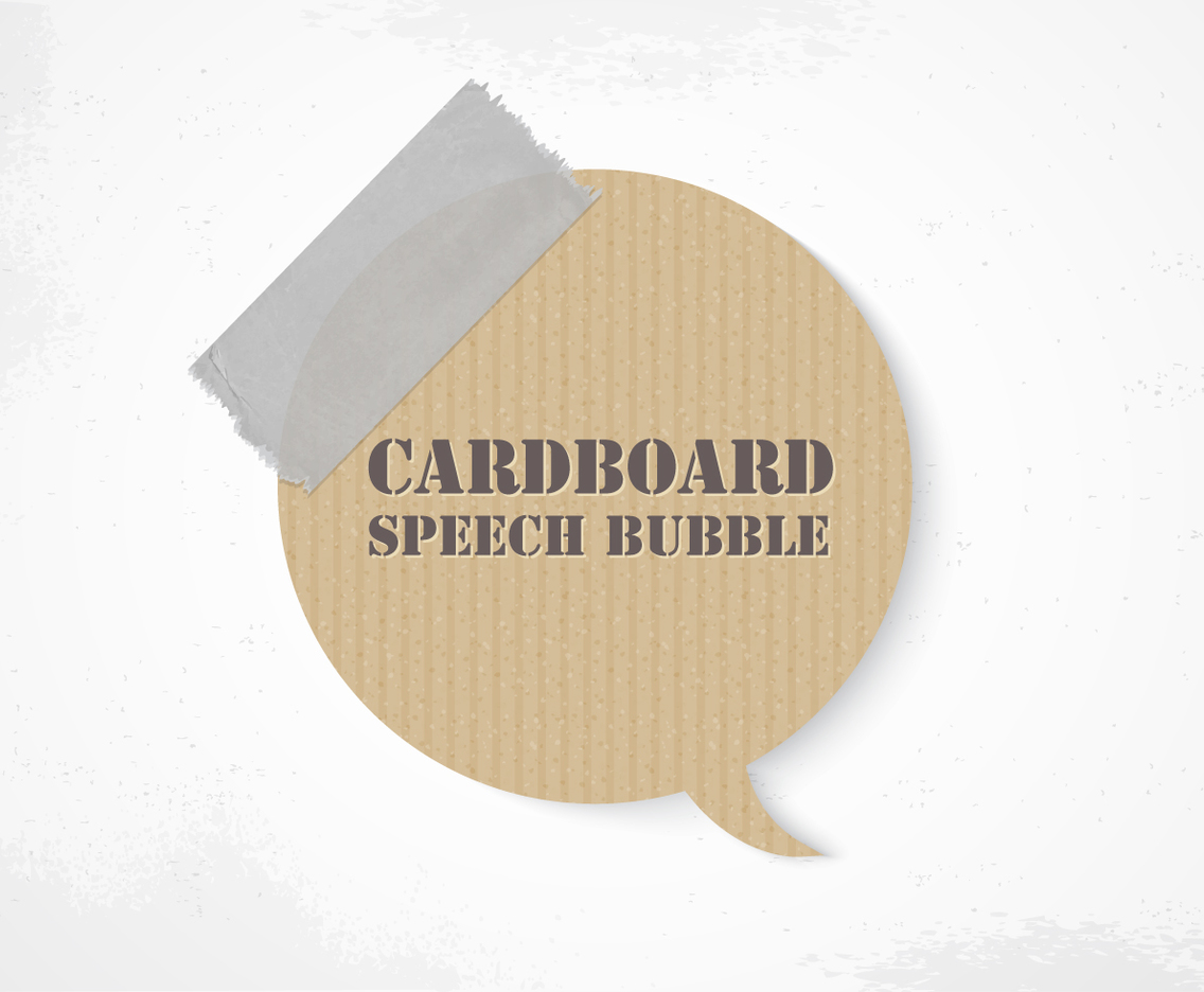 Cardboard Speech Bubble