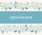 Beautiful Floral Border Vector Background