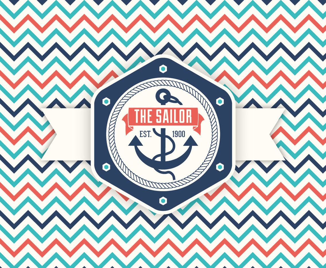 Retro Nautical Label