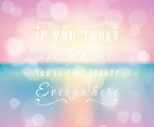 Beautiful Inspirational Blurred Background