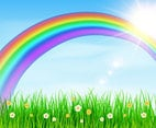 Beautiful Spring Rainbow Background